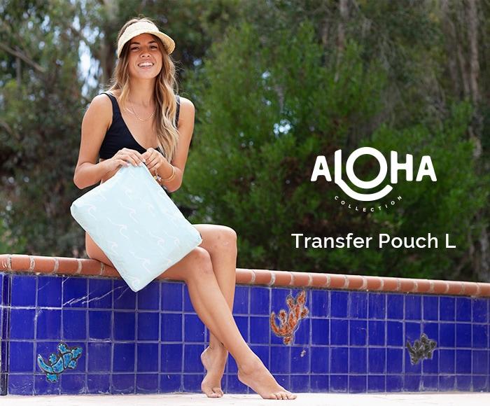 アロハコレクション/【L】Aloha Collection Pouch Transfer 撥水ポーチ Lサイズ