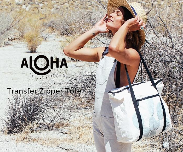 アロハコレクション Transfer Zipper Tote トートバッグ