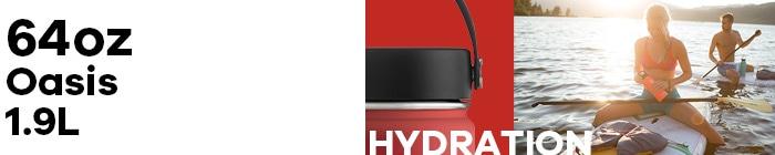 ハイドロフラスク/Hydro Flask 64 oz Oasis ステンレスボトル