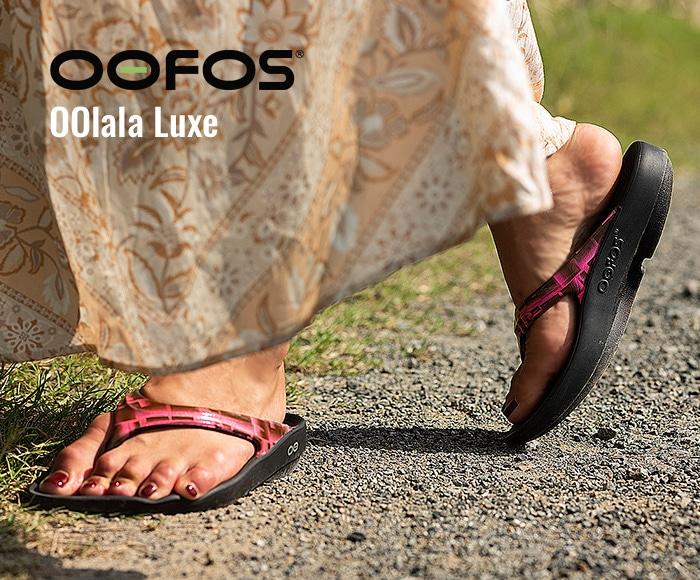 ウーフォス/OOFOS OOlala Luxe(ウーララルクス)リカバリーサンダル
