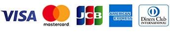 jcb、amex、visa、master、ダイナーズ