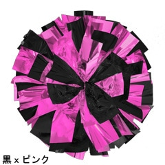 ポンポンギャラリー画像、黒、ピンク