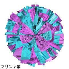 ポンポンギャラリー画像、マリンブルー、紫
