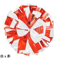 ポンポンギャラリー画像、白、赤