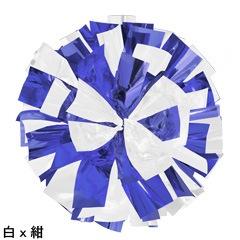 ポンポンギャラリー画像、白、紺