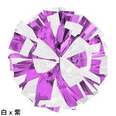 ポンポンギャラリー画像、白、紫