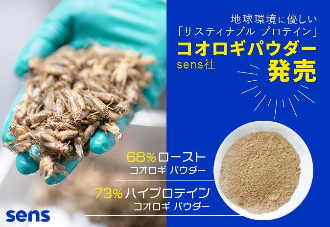昆虫食 サスティナブル プロテイン SENSセンス社 コオロギパウダー