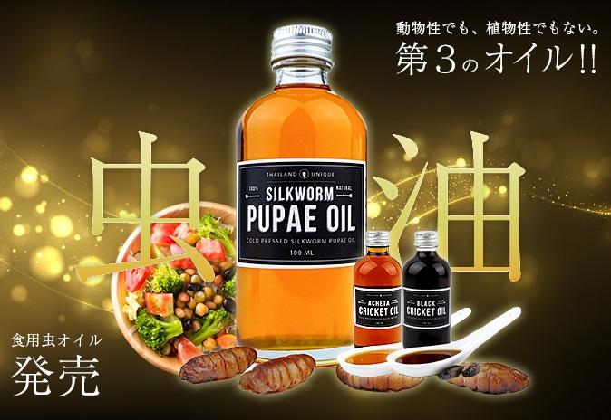 虫油 食用虫オイル 発売