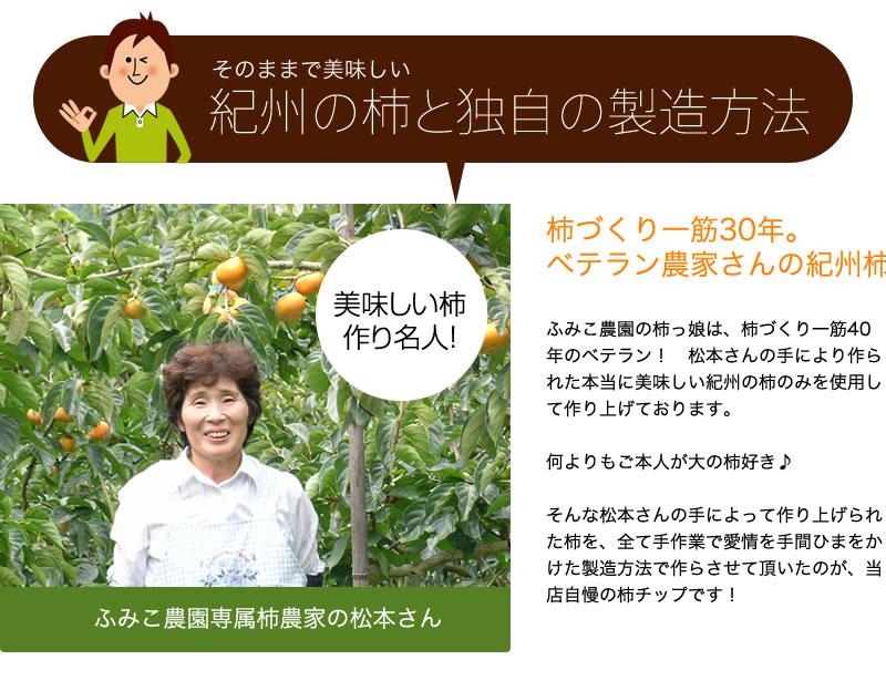 ふみこ農園の専属農家さんが丹精込めて育てた柿を使っています