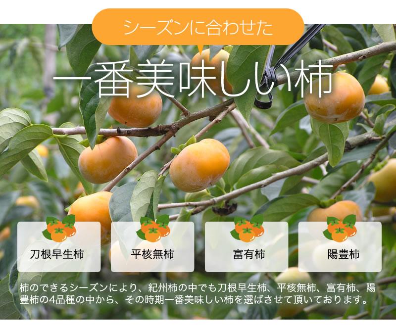 シーズンに合わせた一番美味しい柿を使用しています
