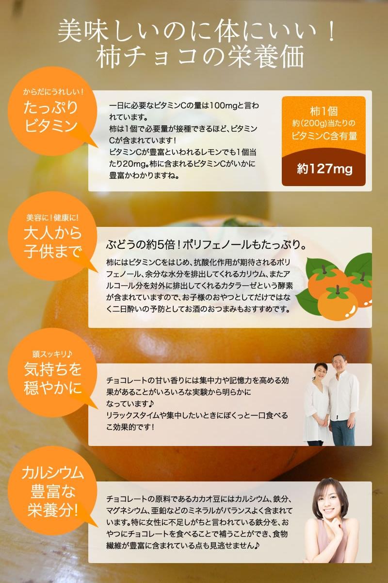 美味しいのに身体にいい!柿チョコの栄養価