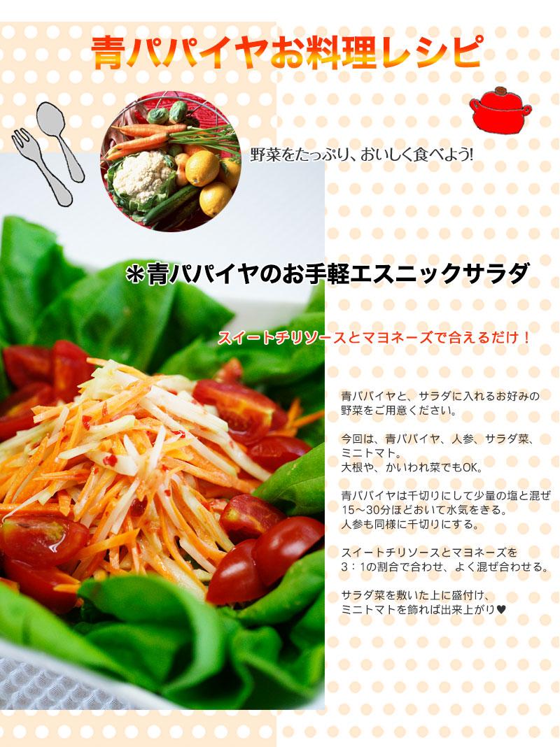 青パパイヤお料理レシピ
