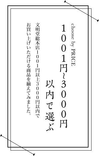 1001円〜3000円以内