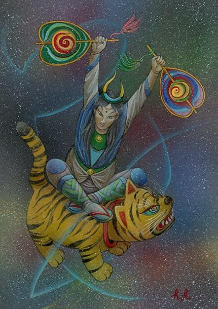 「虎を紡ぐ」42cm×30cm ¥172,800