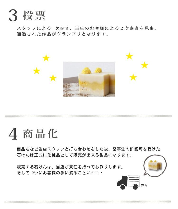 第3回HANDMADE SOAP CONTEST_コンテストから商品化までの流れ(3)投票・(4)商品化