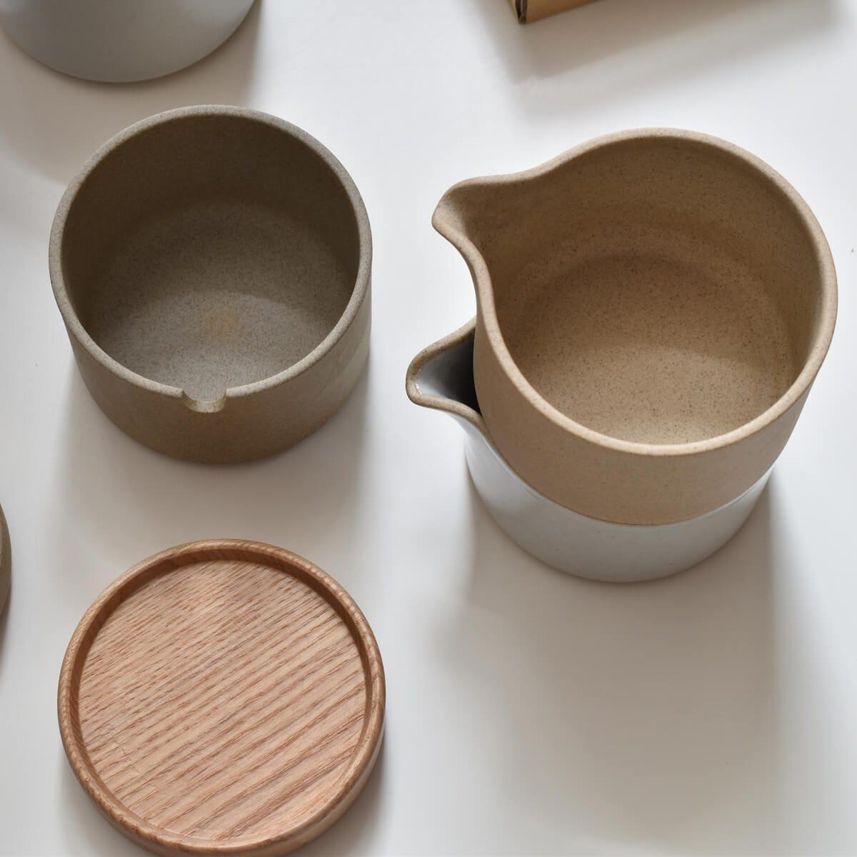 hasami porcelain sugarpot milkpitcher