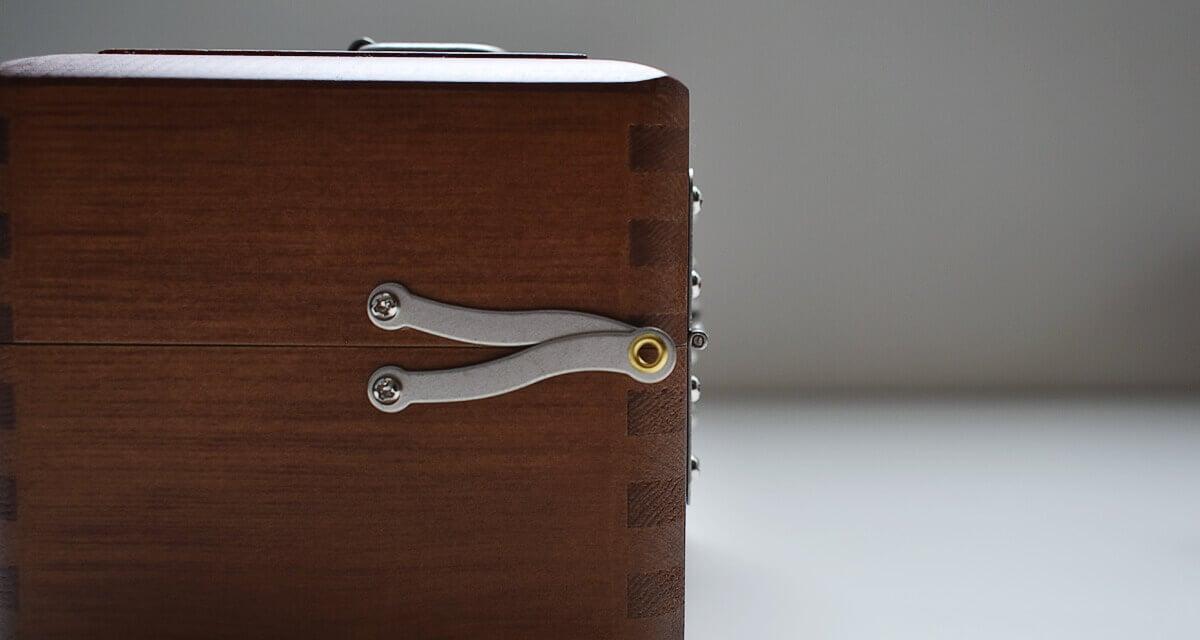 ツガの手提げ小箱 道具箱