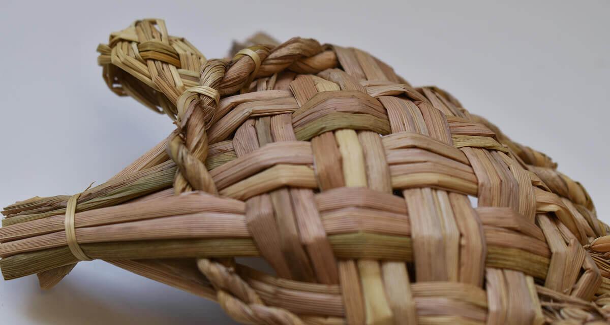 渡部萌 稲藁の鶴亀