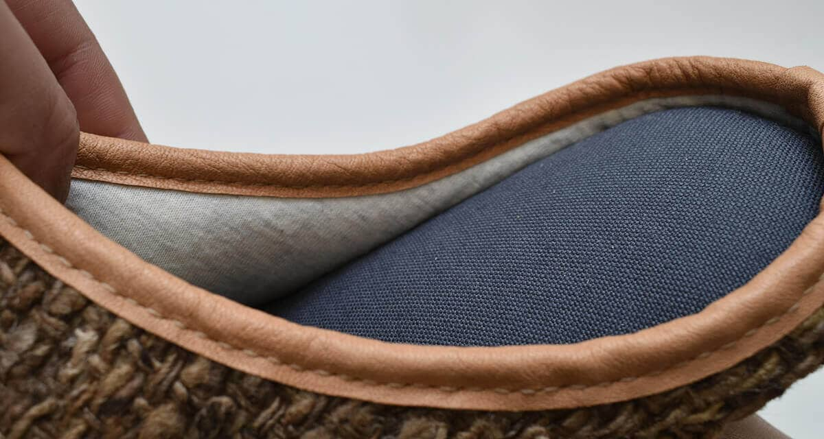 tussah silk slippers