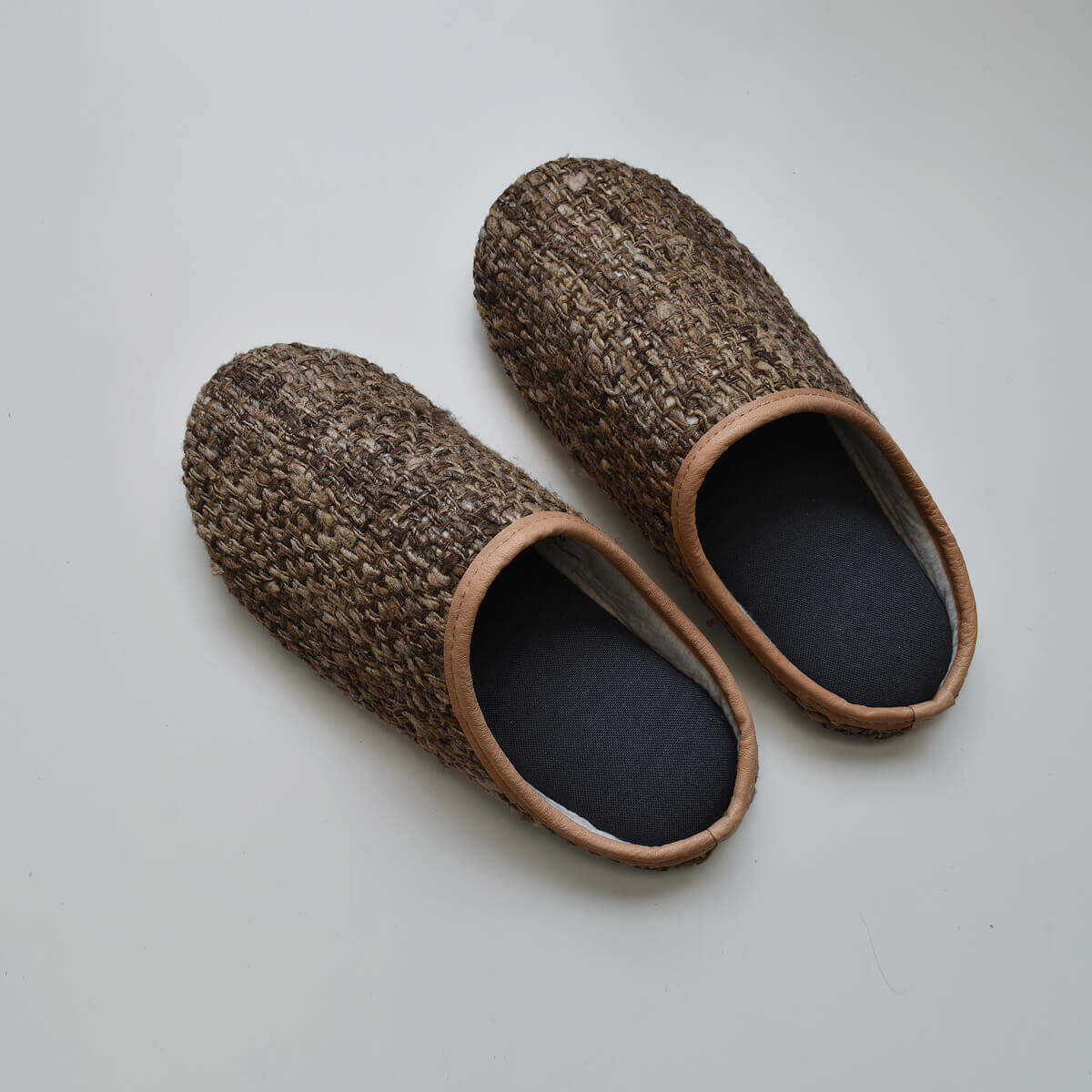 tussah silk slippers