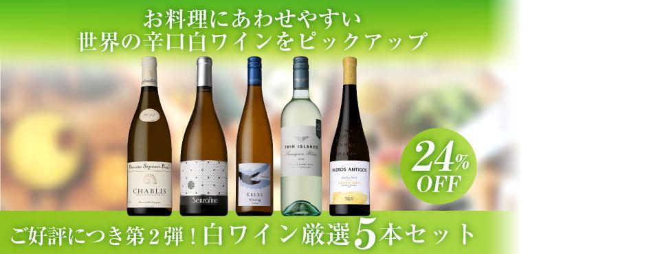 世界のフレッシュ&フルーティ白ワイン厳選5本セット
