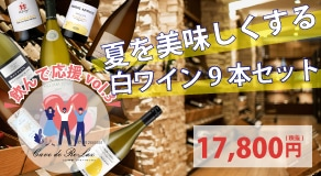 \飲んで応援/vol.3 夏を美味しくする白ワイン9本セット
