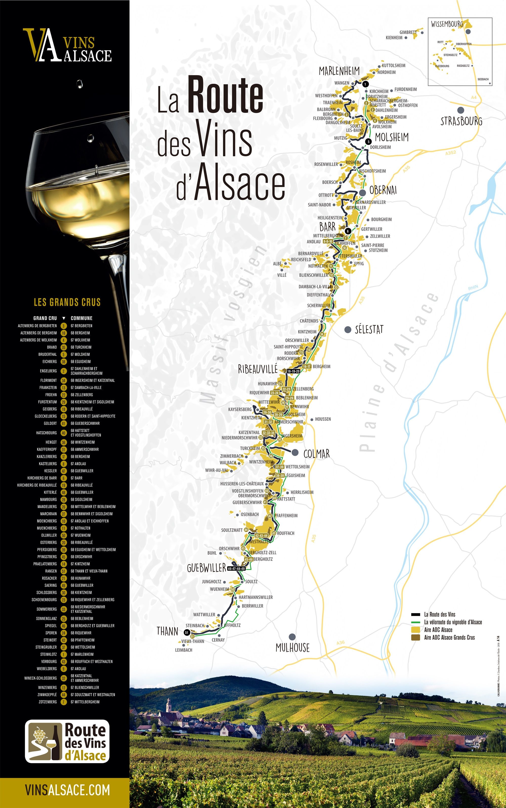 アルザスワインマップ