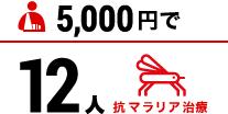 5000円で抗マラリア治療12人分