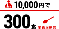 10000円で栄養治療食300食分