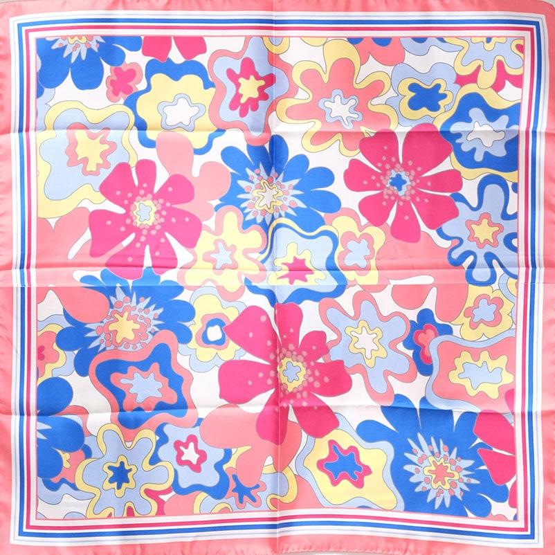 イタリア製 春夏スカーフ ピンク・ビオージェノ5