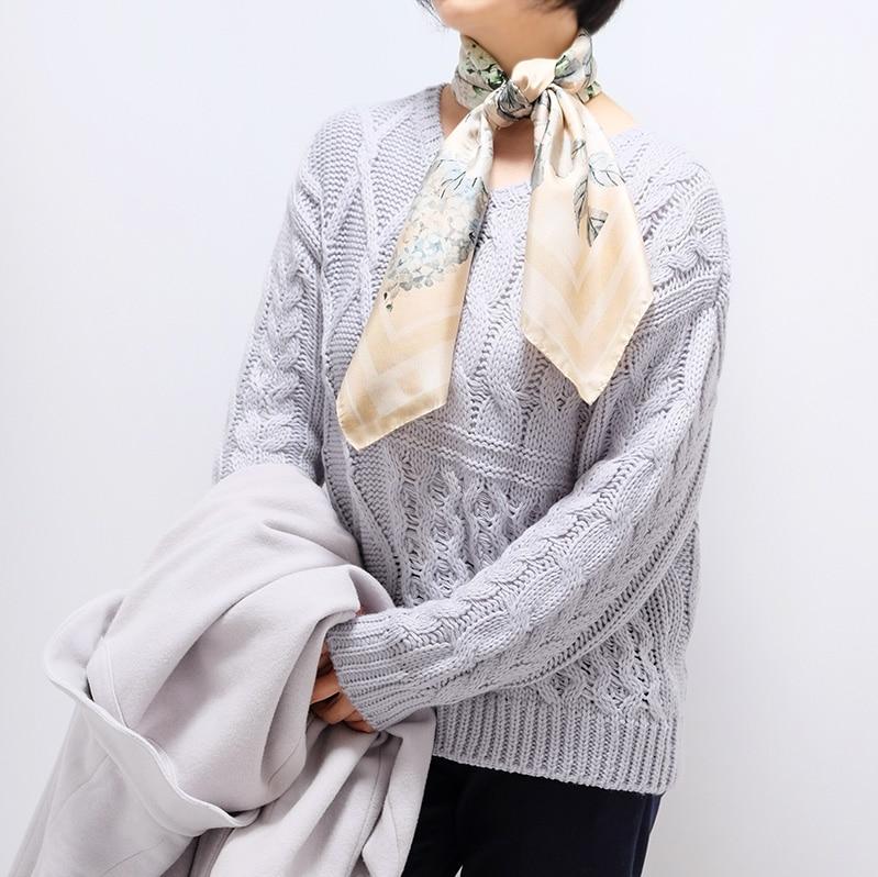 イタリア製 春夏スカーフ ベージュ・フラワーガーデン1