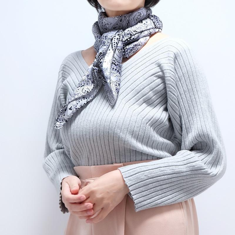 イタリア製 春夏スカーフ ブラック・ペイズリー1