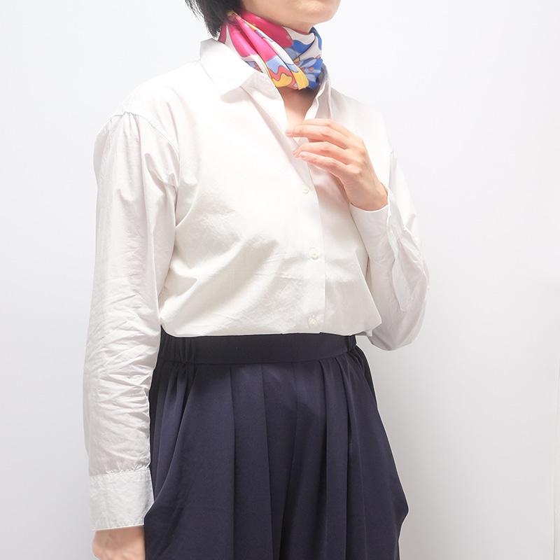 イタリア製 春夏スカーフ ピンク・ビオージェノ1