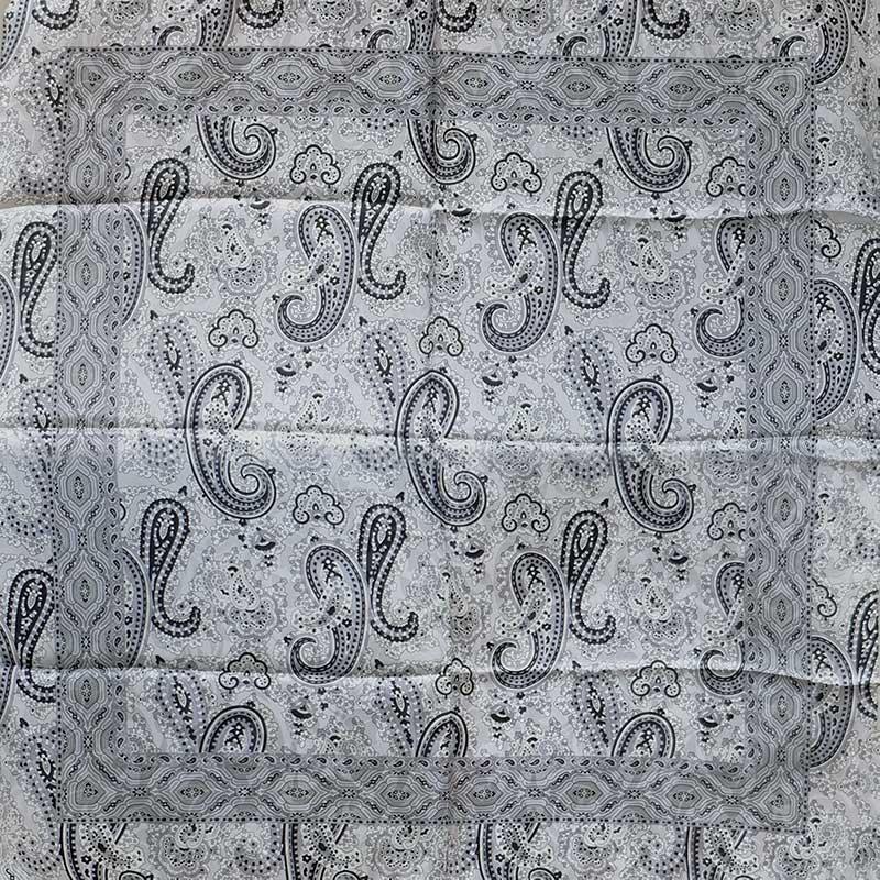 イタリア製 春夏スカーフ ブラック・ペイズリー3