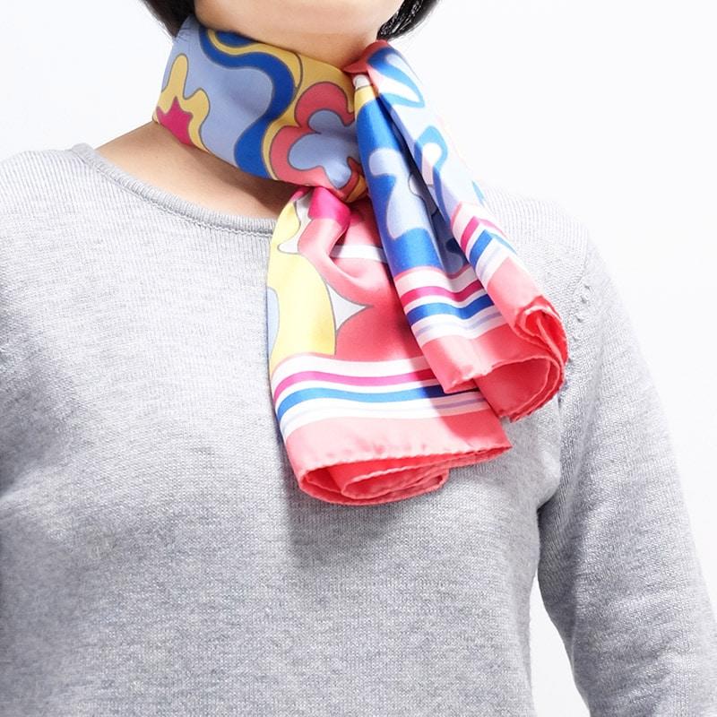 イタリア製 春夏スカーフ ピンク・ビオージェノ6