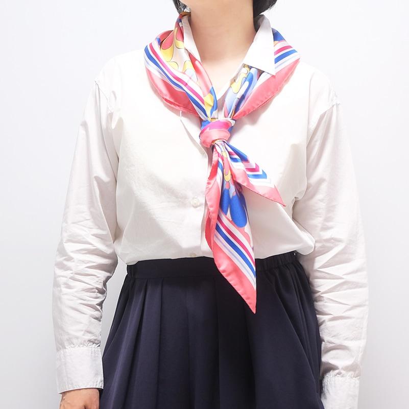 イタリア製 春夏スカーフ ピンク・ビオージェノ3
