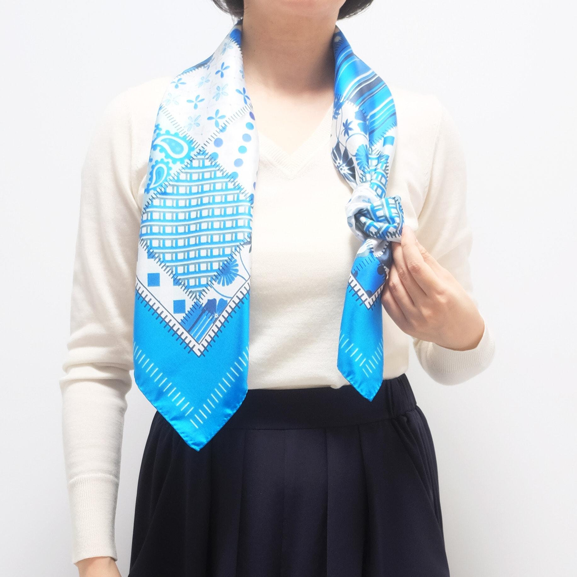 スカーフの巻き方2