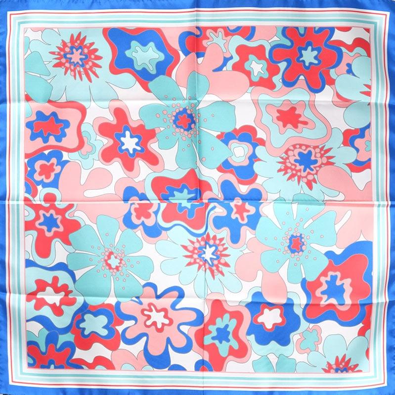 イタリア製 春夏スカーフ ブルー・ビオージェノ5