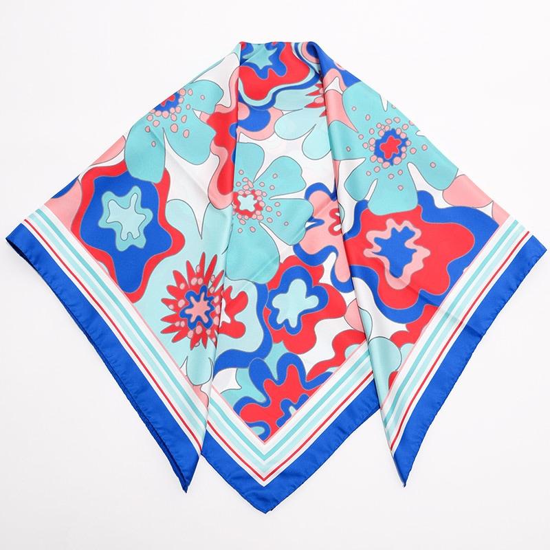 イタリア製 春夏スカーフ ブルー・ビオージェノ4