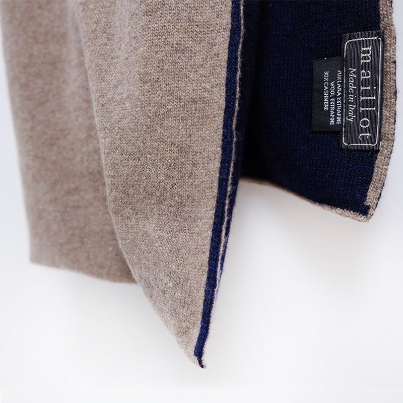 カシミアウールマフラー 暖かく柔らかな手触り