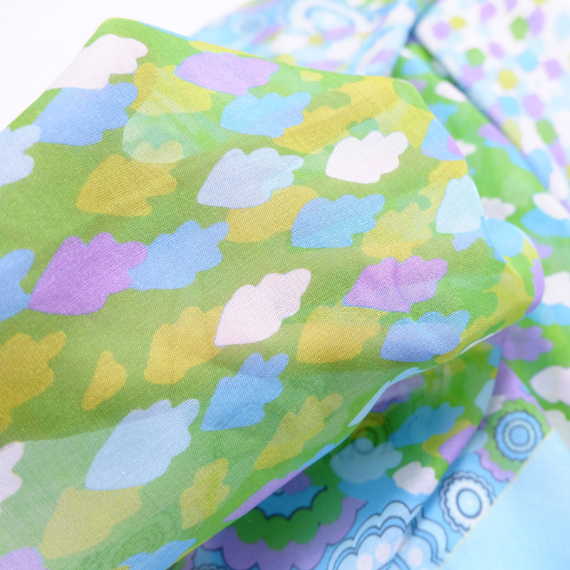 シルクモダール すべすべ滑らかな手触り 春夏 スカーフを巻く