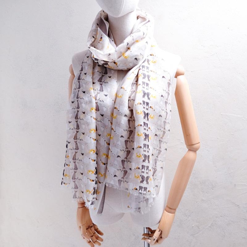 大判サイズのレディースストール 70センチ幅×200センチ長さの大判ストール ロングスカーフ