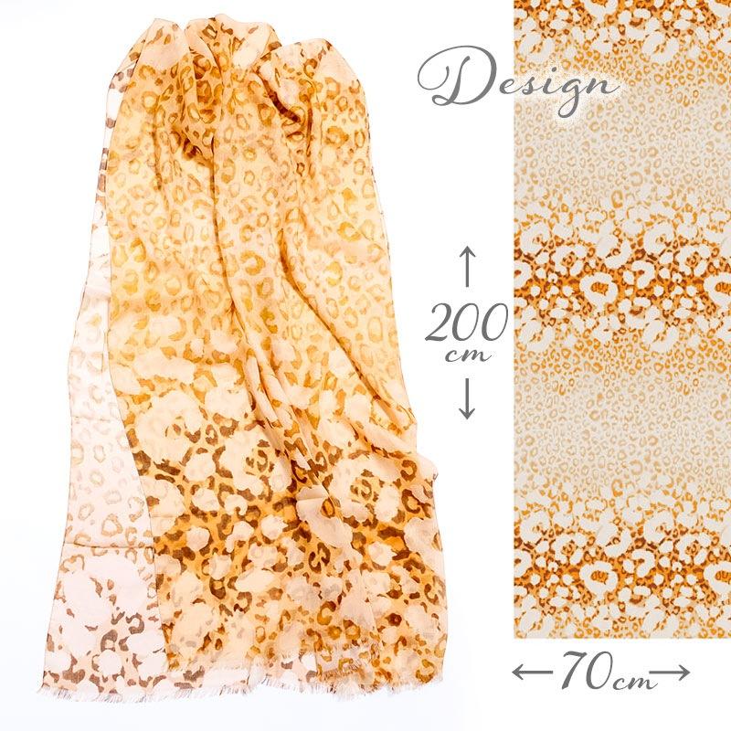 ストール メンズ 春物 夏物  レオパード オレンジ色  男性女性兼用デザイン