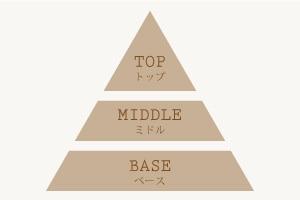 トップ、ミドル、ベースノートの説明