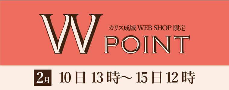 2月のWポイント開催