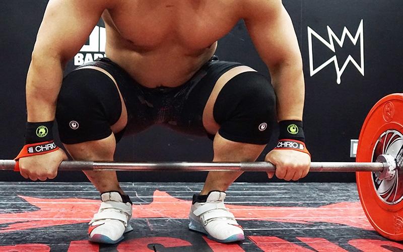 高重量を扱うトレーニング時に