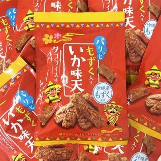 """""""パリッと"""" もずく入りいか味天タコライス味 10個パック"""
