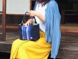伝統織物蕨双子織 デイリーバッグ(紺)