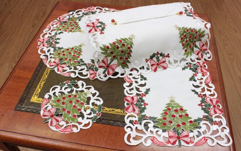 レース,通販,クリスマス,テッシュカバー,刺繍