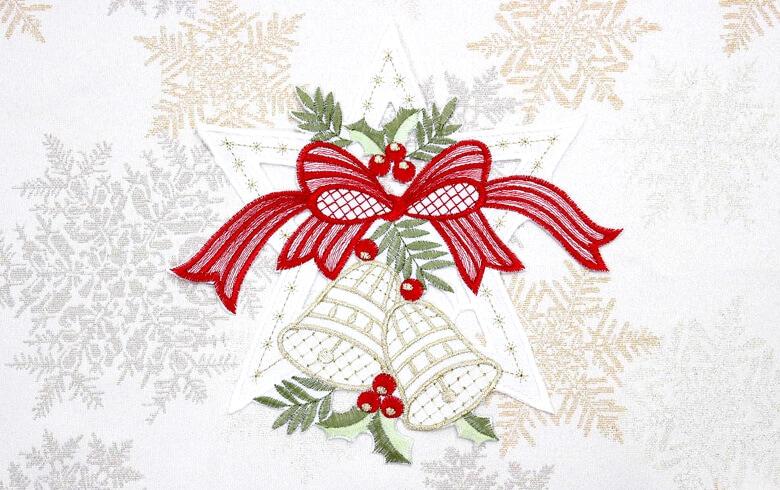 レース,通販,クリスマス,ドイリー,花瓶敷き,刺繍